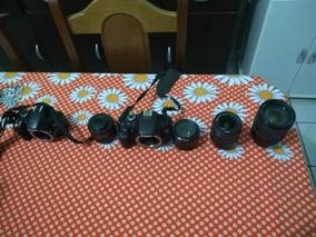 Cameras Nikon D3200 E Canon T3i +lentes