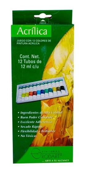 Pinturas Acrílico Oleo Rodart Tubo Colores 12 Piezas Oferta