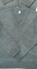 Suéter Color Gris Cuello V O Abierto 16 Piezas