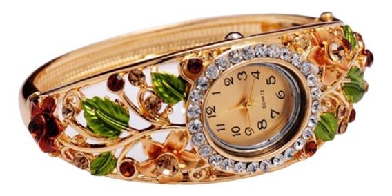 Relógio Feminino Pulseira Frete Gratis Pulso Barato Floral