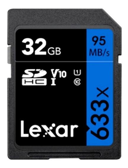 Cartão Lexar 32gb   U1   V10   95mb/s   Original Lacrado