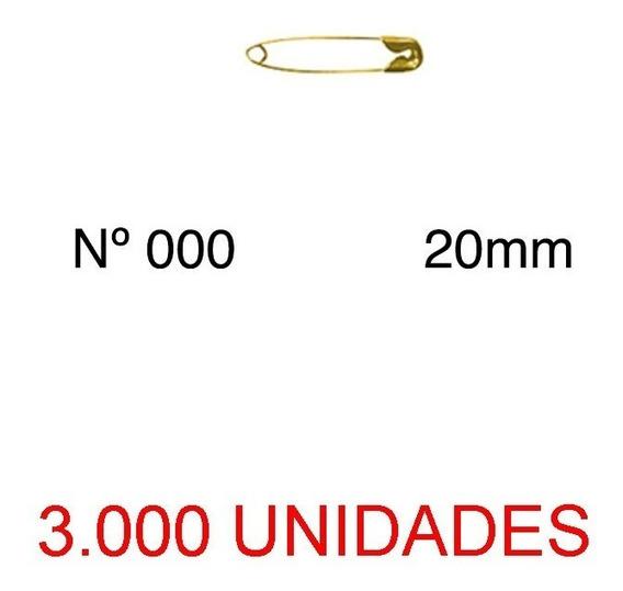 Mini Alfinete De Segurança Nº 000 Dourado 20mm 3000 Unidades