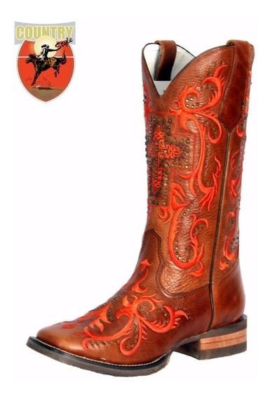 Bota Feminina Texana Goyazes Atlanta Caramelo H163250-cef