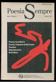 Poesia Sempre Ano 1 Número 1 Revista- Frete Só $15 - L.2291