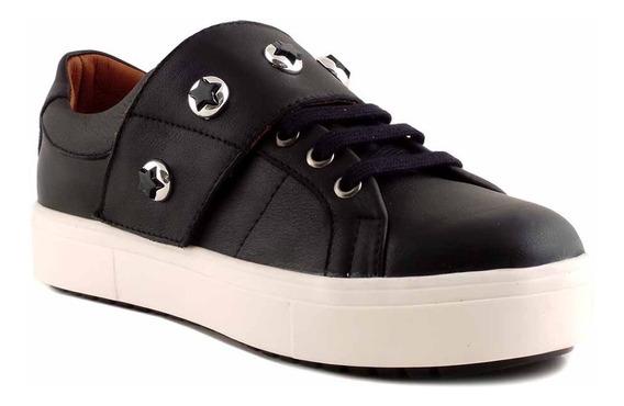 Zapatilla Mujer Briganti Cuero Moda Zapato Velcro Mczp05241
