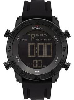 Relógio Technos Masculino Preto Pulseira Borracha + Nfe