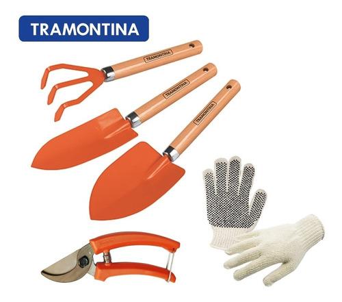Conjunto Jardinagem Tramontina 4 Peças + Luva Brinde