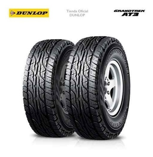 Kit X2 255/70 R16 Dunlop Grandtrek At3 + Tienda Oficial