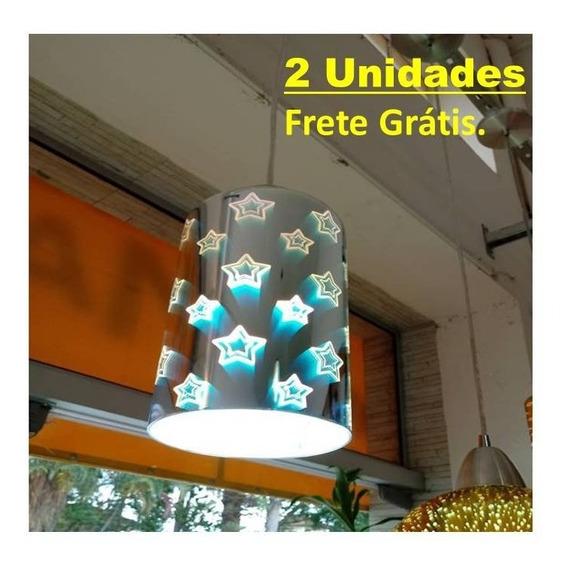 Luminária Efeito 3d, Pendente, Banheiro Quarto Sala Gourmet.