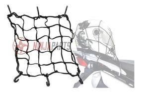 Rede Elástico Bagageiro Aranha Moto Capacete 35cm X 35cm