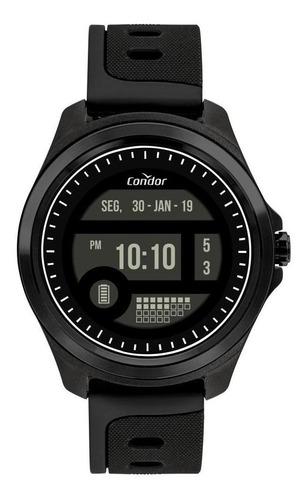 Relógio Masculino Condor Digital 48mm Silicone Preto
