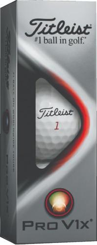 Imagen 1 de 5 de Golf Center Pelotas Titleist Pro V1x  Tubo X 3