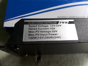Controlador Energia Solar 10a 12v/24v