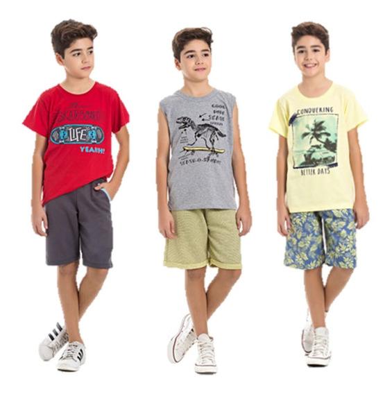 Kit Roupa Juvenil Menino 3 Conjuntos Atacado 10 A 14 Anos