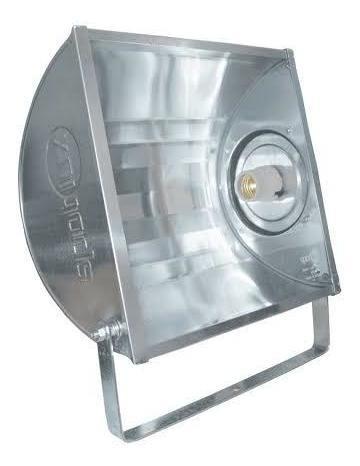 Kit 3 Refletor 250w E-27 Alumínio Retangular Spotlux