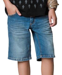Kit 10 Short Bermuda Masculina Jeans Sarja Infantil Juvenil