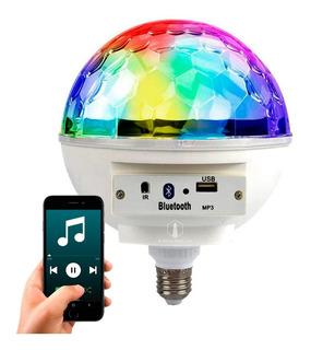 Lampara Led Magic Ball 4w E27 Rgb Bluetooth Parlante Dj