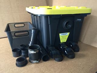 Trampa De Grasa 37 Litros Con Kit De Instalacion Y Canasta