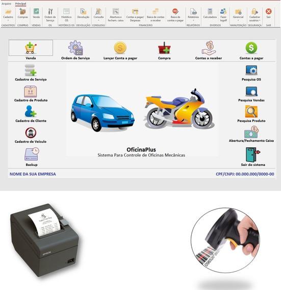 Sistema Para Oficinas, Veículos,moto, Ordem De Serviço,caixa