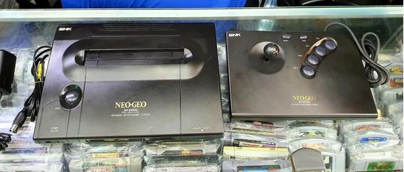 Neo Geo Aes Snk Controle Arcade Fonte E Cabo De Av