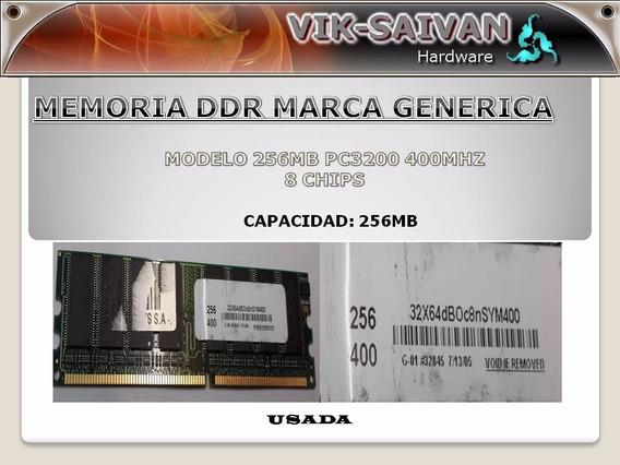 Memoria Ddr Generica 256mb Pc-3200 400mhz 8 Chips 26