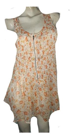 Musculosa De Mujer Tipo Vestid, Importada, Gasa , Talle M/l