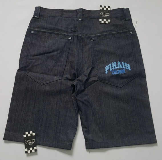 Bermuda Pixain Jeans Hip Hop Tamanho Grande C1 Crazzy Store