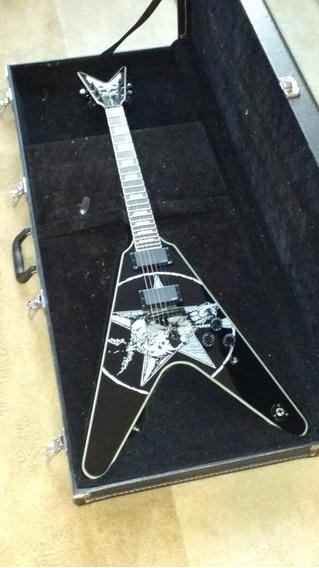 Guitarra Dean Flying V Eric Peterson Old Skull + Hard Case