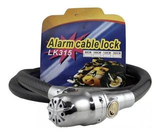 Linga Candado Con Moto Alarma Motoscba