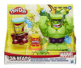 Massinha Play-doh Marvel C/ Hulk E Homem De Ferro Hasbro
