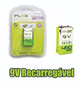 Bateria Pilha 9v Recarregável 450mah Flex Original