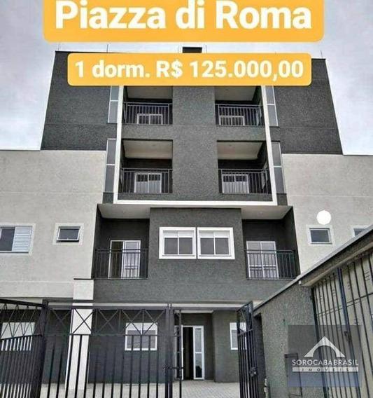 Apartamento Com 1 Dormitório À Venda, 36 M² Por R$ 125.000 - Jardim Piazza Di Roma I - Sorocaba/sp - Ap0395