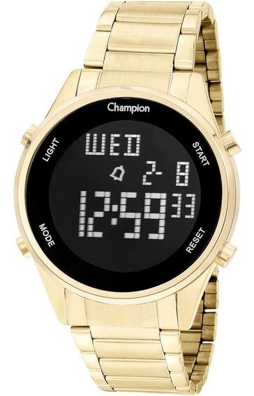 Relógio Champion Digital Masculino Dourado Ouro 18k