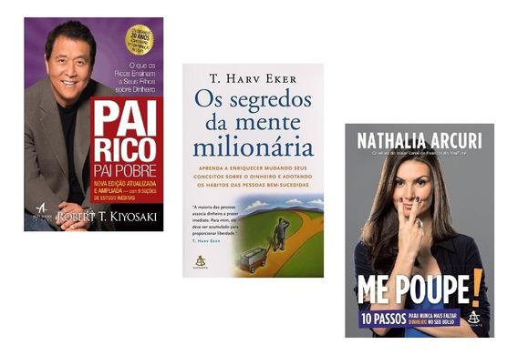 Kit Livros - Pai Rico + Segredos Da Mente + Me Poupe #