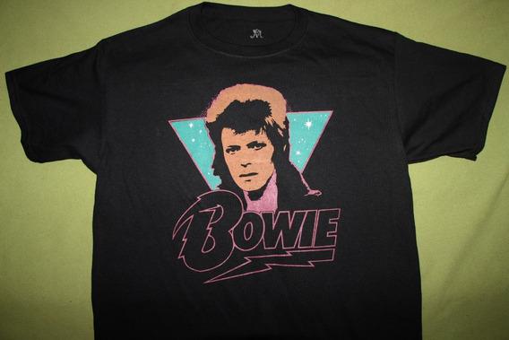Gusanobass Playera Rock Metal David Bowie Classic Vintage