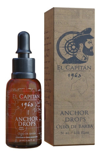 Óleo De Barba Anchor Drops 30ml El Capitán