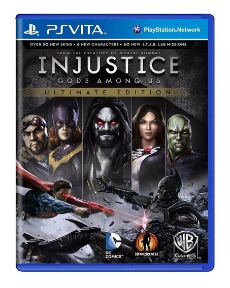 Jogo Ps Vita - Injustice Gods Among Us - Semi-novo
