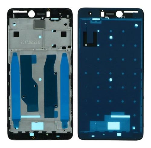 Frame Aro Chassi Frontal Xiaomi Redmi Note 4x Preto ( Snap )