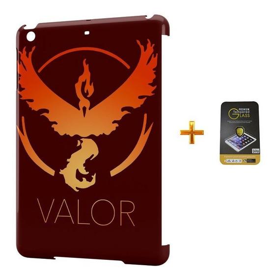 Kit Capa iPad Mini 2/3 Pokemon Valor Team +pel.vidro Bd1