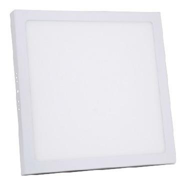 Kit 5 Painel Plafon Led De Sobrepor Quadrado 24w Branco Frio