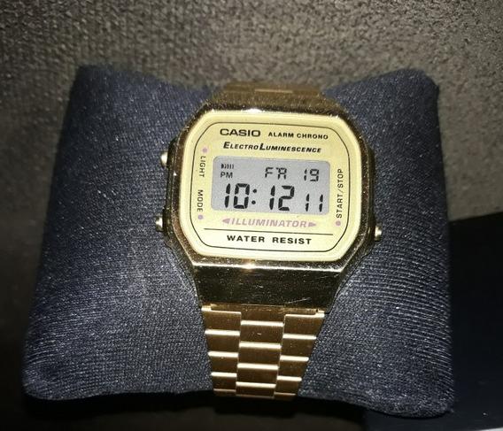 Relógio Casio Foleado A Ouro