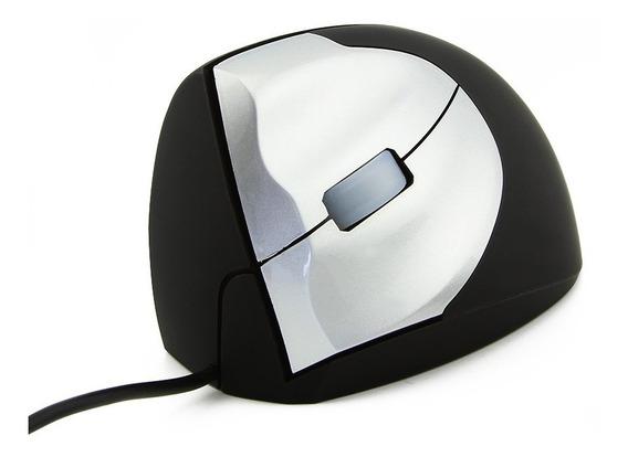 Mouse Óptico Ergonômico Vertical Com Fio Usb - Para Canhoto