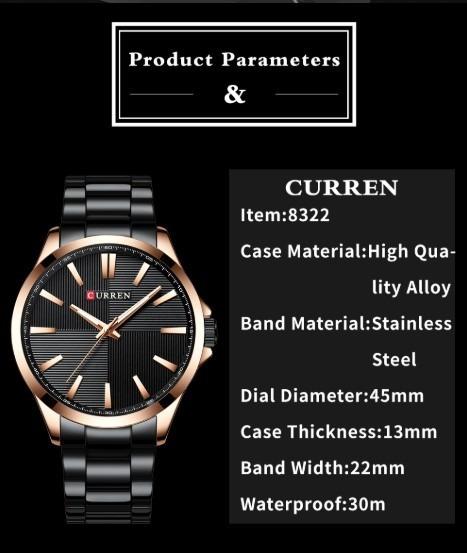 Relógio De Luxo Quartzo Masculino Importado Frete Grátis!!!