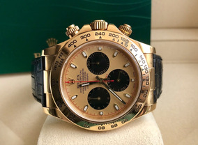 Rolex Daytona De Ouro Amarelo/couro 2006. Impecável.