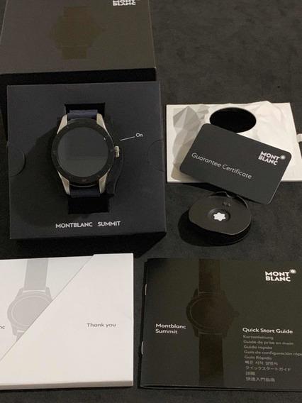 Relógio Montblanc Summit Smart Watch Completo