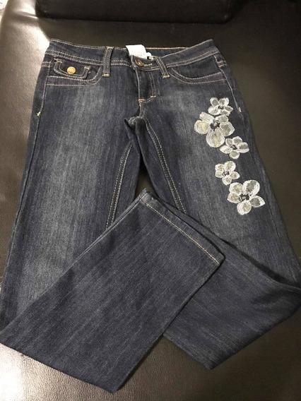 Pantalón Blue Jeans De Dama Juvenil Dkny Talla 8