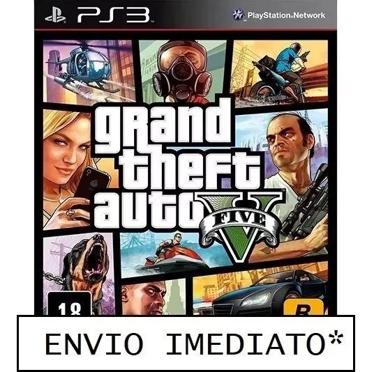 Gta 5 Grand Theft Auto 5 Ps3 Mídia Digital Psn Pt-br
