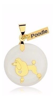 Pingente Poodle Cão Cachorro Pet Banhado A Ouro Presente