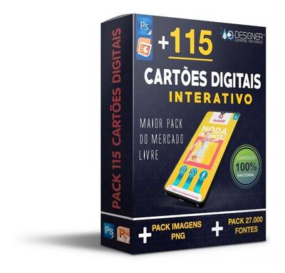 Pack Com 115 Cartões Interativos Digitais - Vol.1 E Vol. 2