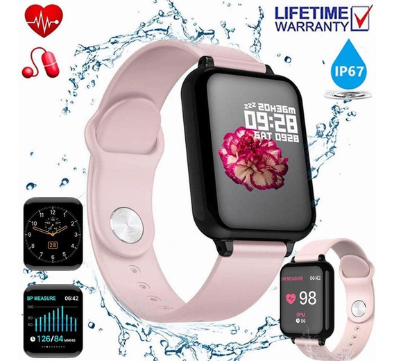 Reloj Inteligente Impermeable Deportivo Ios Y Android Mujer